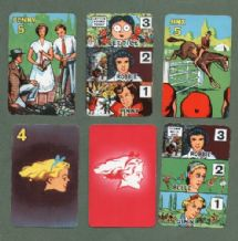 Vintage Collectible cards game GIRL by Pepys 1955
